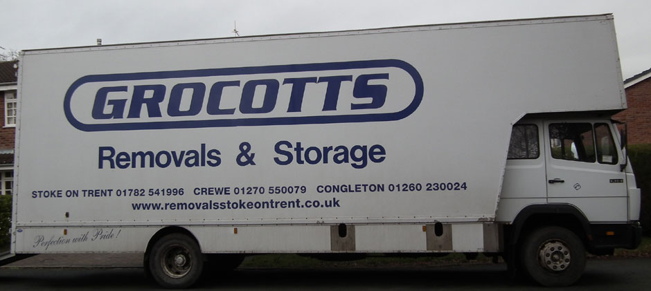 Grocotts Removals Van, from Stoke on Trent Staffordshire.